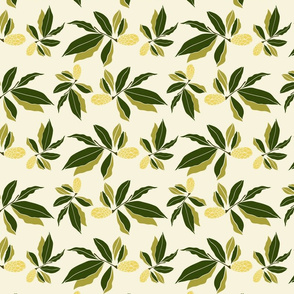 Elegant botanical magnolia pine cone