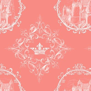 Fairy Tale Castle Crown on Coral