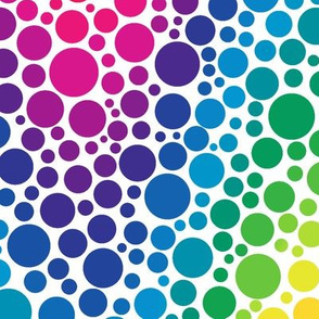 rainbow chevron dots