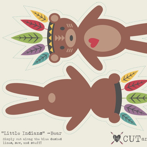 Little Indians-Cut & Sew Bear