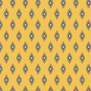 Yellow & Gray Aztec