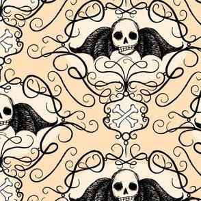 Winged Skulls - bone
