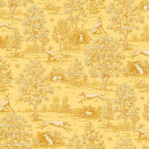 Golden Reverse Greyhound Toile ©2010 by Jane Walker