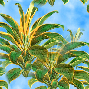 green_plant_on_sky