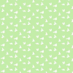 Doves in Flight, Spring Green