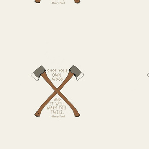 Axe chop wood henry ford