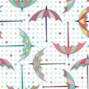 Colorful Umbrellas (March)