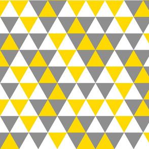 Triangles Yellow Grey White