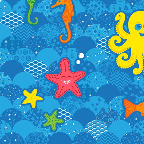 Silly Sea Creature Quilt