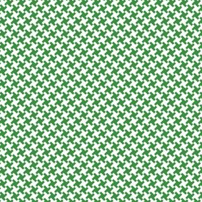 Houndstooth Green&White small