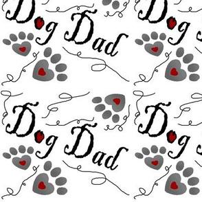 Dog Dad paw prints hearts