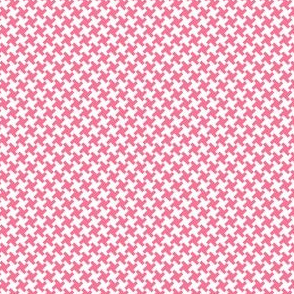 Houndstooth White&Pink small