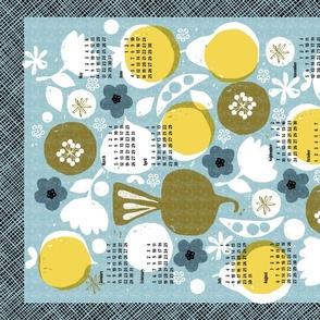 2021 produce tea towel calendar