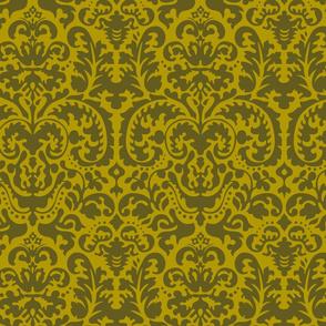 Anna Jacquard gold/green