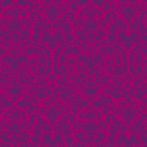 Anna Jacquard raspberry/plum