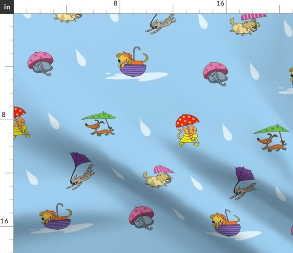 It S Raining Cats And Dogs Spoonflower
