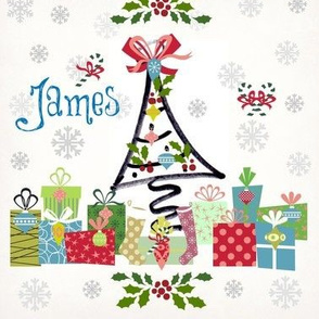 white christmas-personalized blue JAMES