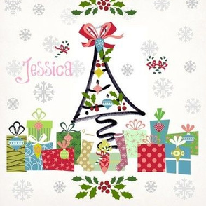 white christmas-personalized pink
