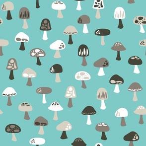 Woodland Mushrooms Cool (Summer)