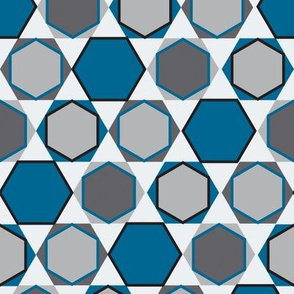 Hexagons (Big Blue)