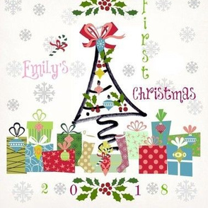 1st christmas pink personalized EMILY