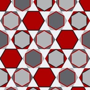 Hexagons (Big Red)