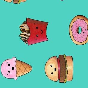 Kawaii_Fast_Food_turquoise_90