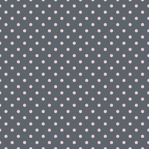 Dark Gray with Light Pink Dots