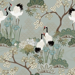 Japanese Garden Sage 14 in repeat