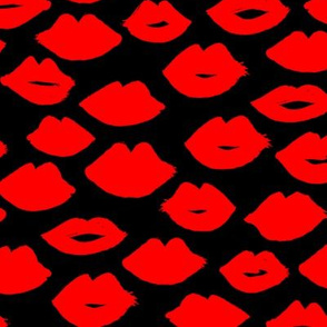 lips // lipstick fashion beauty makeup love valentines red girly print