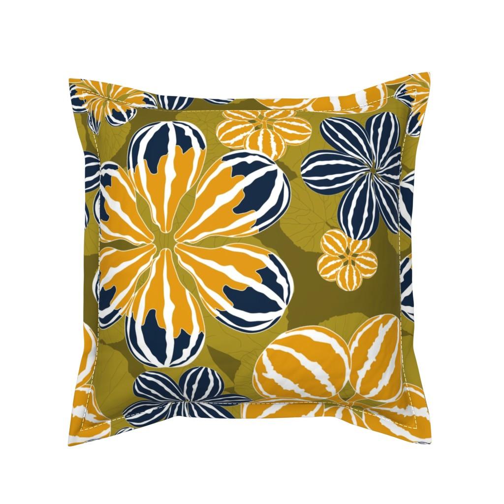 Serama Throw Pillow featuring It's Gourd Flowers! by newmomdesigns