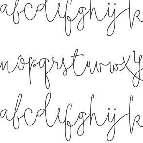 script alphabet