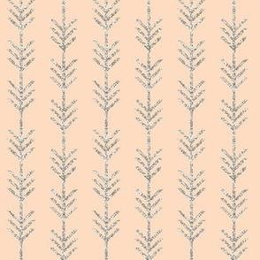 blush arrow stripe // silver sparkle