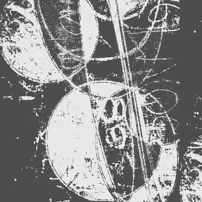 Music Moon/charcoal