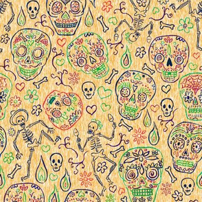 Sugar Skulls on Tan