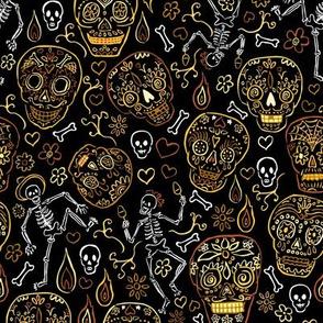 Sugar Skulls Tan and Black