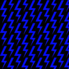 Blue Lightning Bolt on Black Background