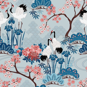 Japanese Garden Light Blue