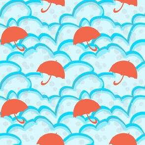 Coral umbrellas