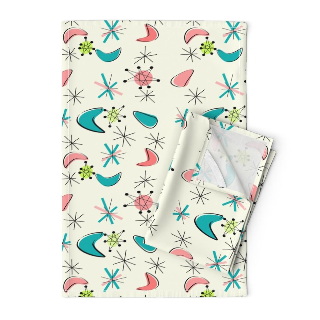 Orpington Tea Towels featuring Atomic Era Boomerangs by hot4tees_bg@yahoo_com