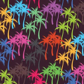 Colourful Palm Trees #7