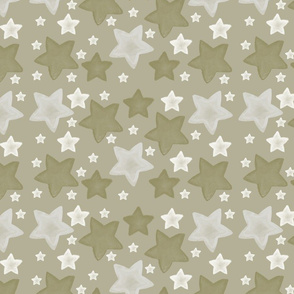 Gold Watercolor Stars