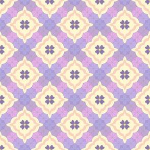 Violet Rain Quilt - Peach