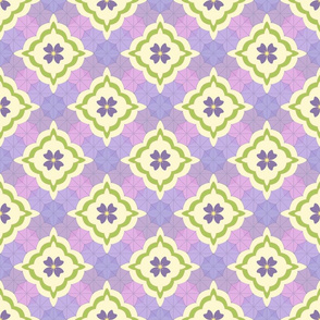 Violet Rain Quilt - Green