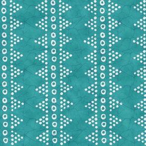 Batik Triangle Stripe Cool Aqua
