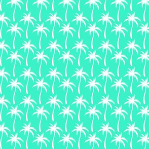 Palm Trees White On Mint