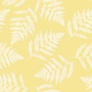 white ferns on sunshine yellow