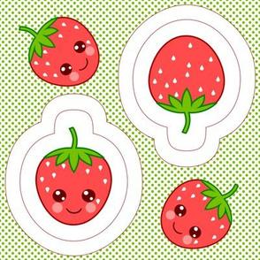 Strawberry swatch toy