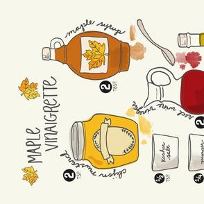 Maple Vinaigrette Tea Towel