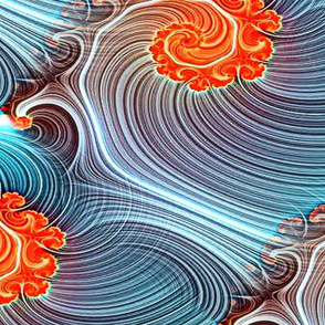 Ocean Dreams Swirls Denim